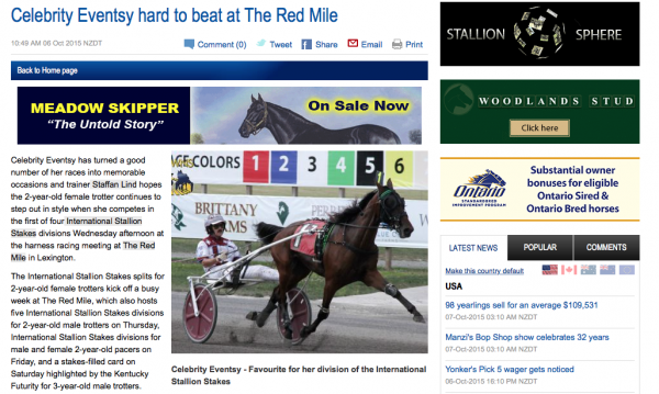 Celebrity Eventsy hard to beat at The Red Mile