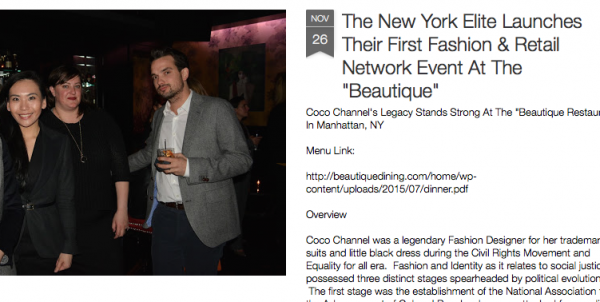 New York Elite Launch Fashion & Retail Networking Events at Beautique